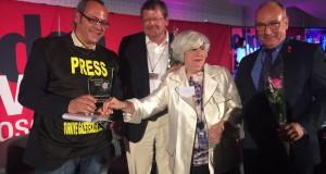 TGS'ye uluslararası dayanışma ödülü