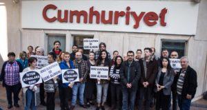 TGS'den Cumhuriyet Gazetesi önünde protesto